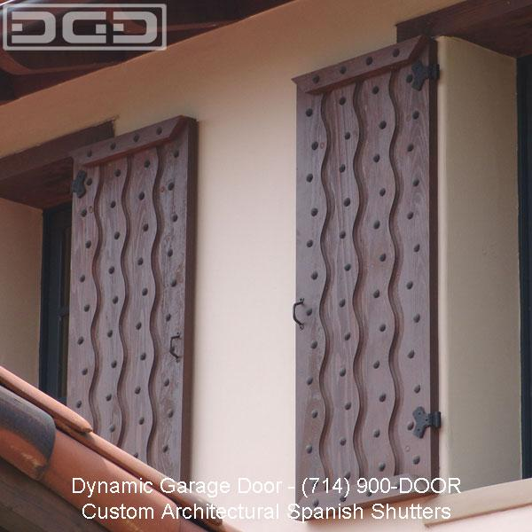 Tuscan Decorative Shutters To Complement Architectural Garage Doors From Dynamic Garage Door