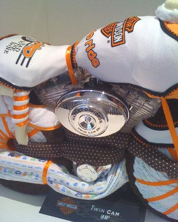 how to make motorcycle diaper cake instructions