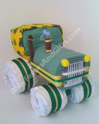 John Deere Tractor Diaper Cake from Baby Favors And Gifts in