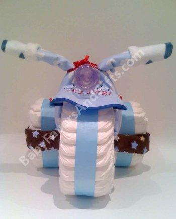 Diaper Cake Centerpiece For Baby Shower : Tricycle Diaper Cake, baby shower centerpiece from Baby ...