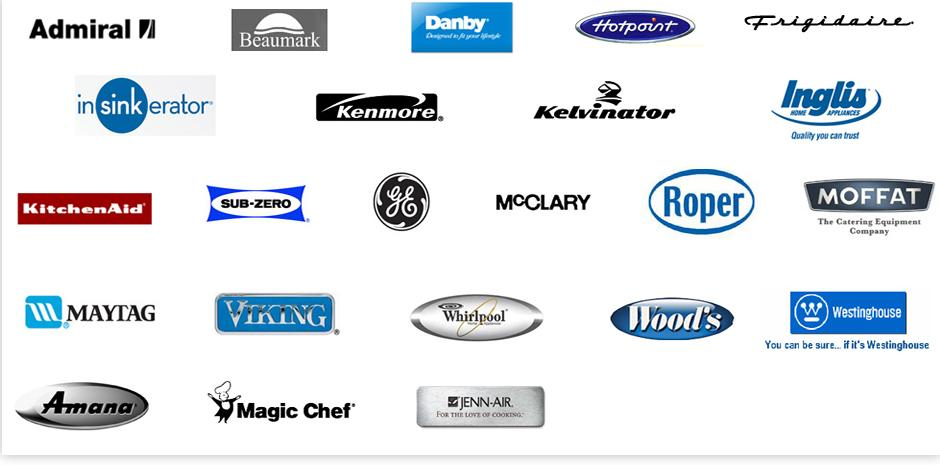 Appliance Repair Brand Logos From Appliance Repair Houston