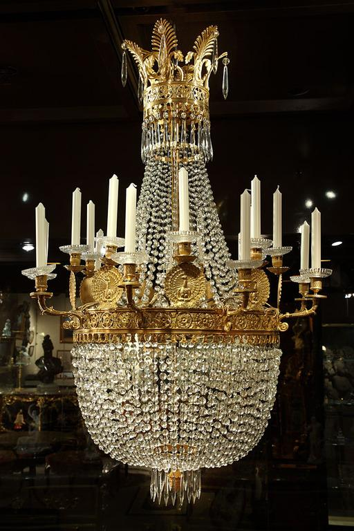 Lighting Large Antique Chandelier - Pictures For Antiques USA In New York, NY 10025 Antique Furniture