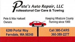 Pete's Auto Repair - Ferndale, WA