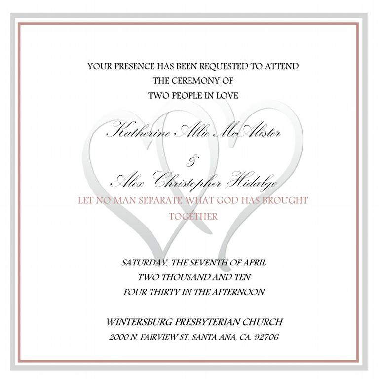 Two Hearts One Love Wedding Invitations - Wedding Invitations