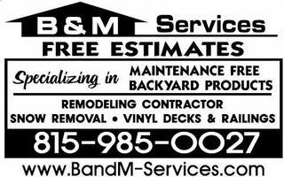 B&M Services - Rockford, IL