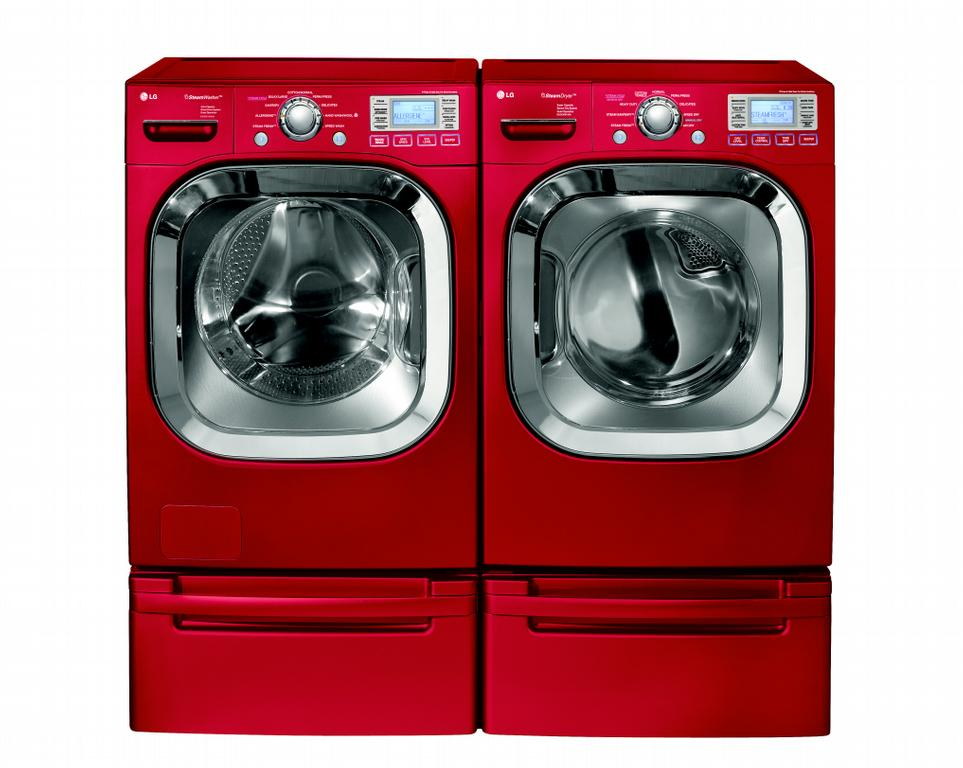 red whirlpool washer and dryer