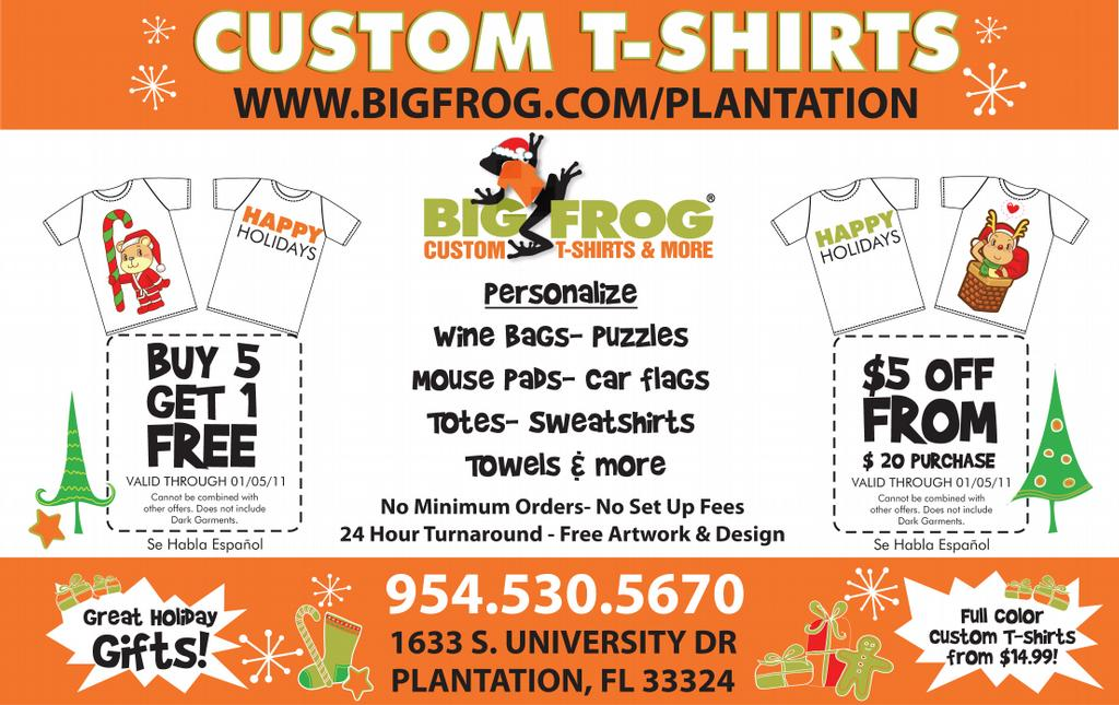 Pictures for big frog custom t shirts more in fort for Big frog custom t shirts