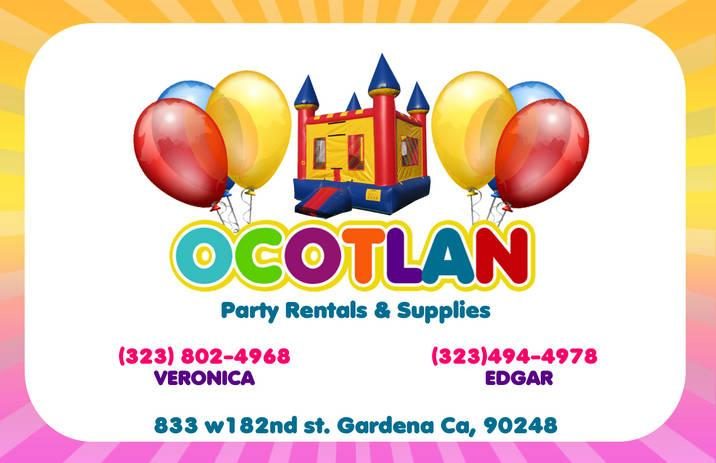 pink flyer front from ocotlan jalisco party supply in gardena ca 90248