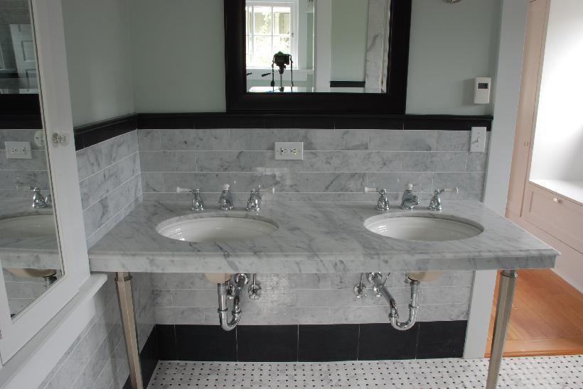 White Carrara Bathroom Levittown Ny 2012 From Porcelain
