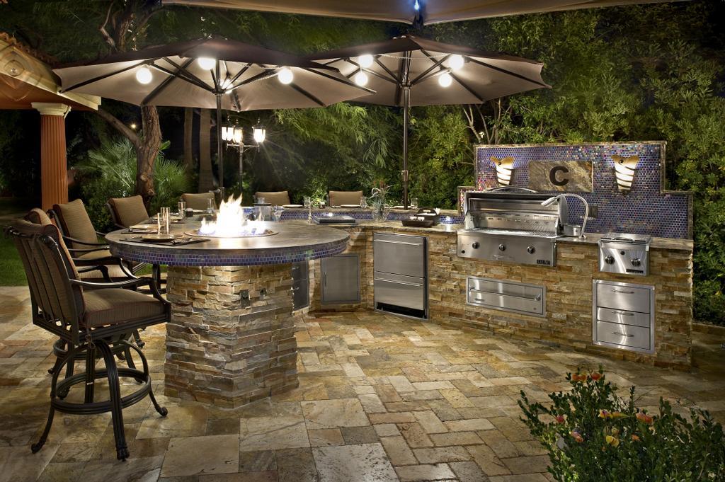 Custom Backyard Fire Pits :  by Galaxy Outdoor  Custom Outdoor Kitchens, BBQ Grills, and Fire Pits