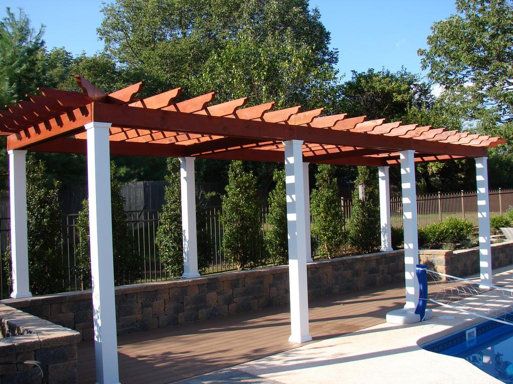 Pool side pergola from ames services in annville pa 17003 for Pergolas para piscinas