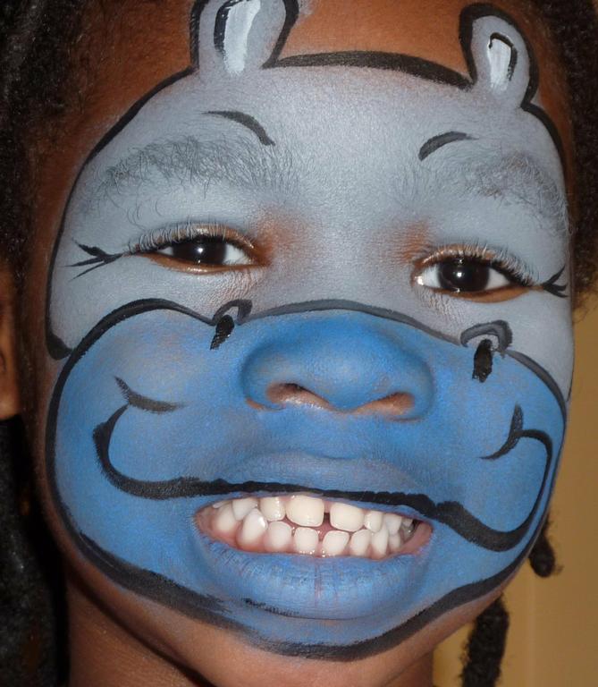 Madagascar Face Paint Hippo