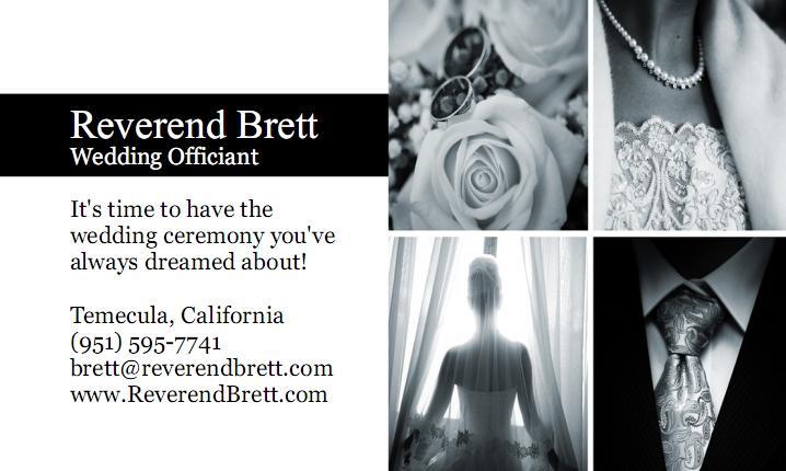 By Reverend Brett Temecula Wedding Officiant