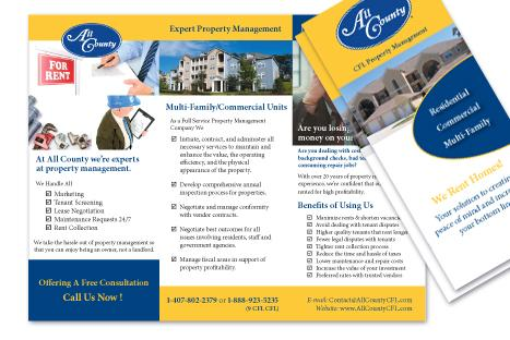 Property Management on All County Property Management Brochure Tri Fold From Create180 Design
