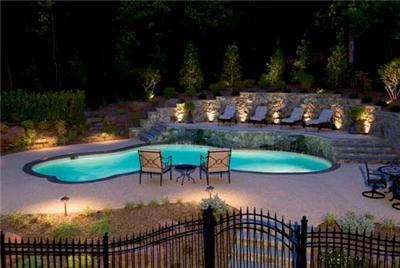 Pool With Elevated Patio From Rsb Pools In Raleigh Nc 27612