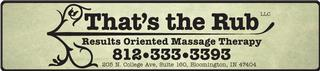 Thats the Rub Massage - Bloomington, IN