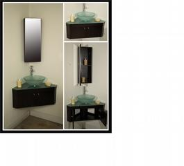 Angolo Corner Wall Mounted Bathroom Vanity Set Broward Bathroom Cabinets Vanities Shower