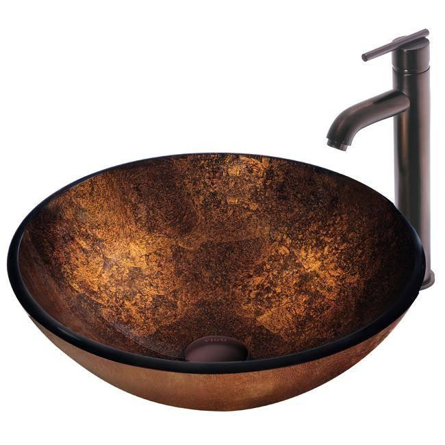 Vessel Sinks : ... vessel sinks, paired with an oil-rubbed bronze vessel faucet and pop