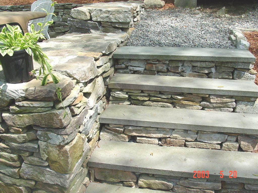 Building Stone Steps And Walkways : Stone stairs walkways from tompkins landscape corp in