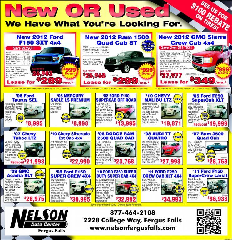 Buick Dealerships In Minnesota: Nelson Mercury - Fergus Falls MN 56538