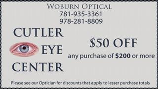 Cutler, Martin E, Md - Cutler Eye & Skin Ctr - Woburn, MA
