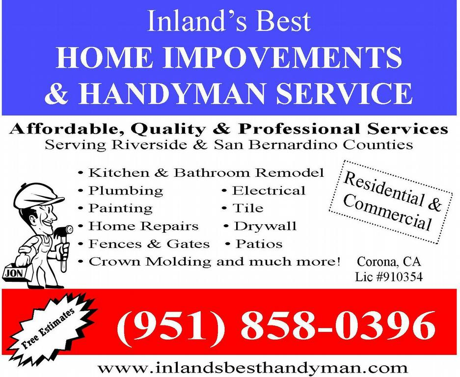 Yellowbook Handyman Ad from INLAND'S BEST HOME IMPROVEMENTS in ...