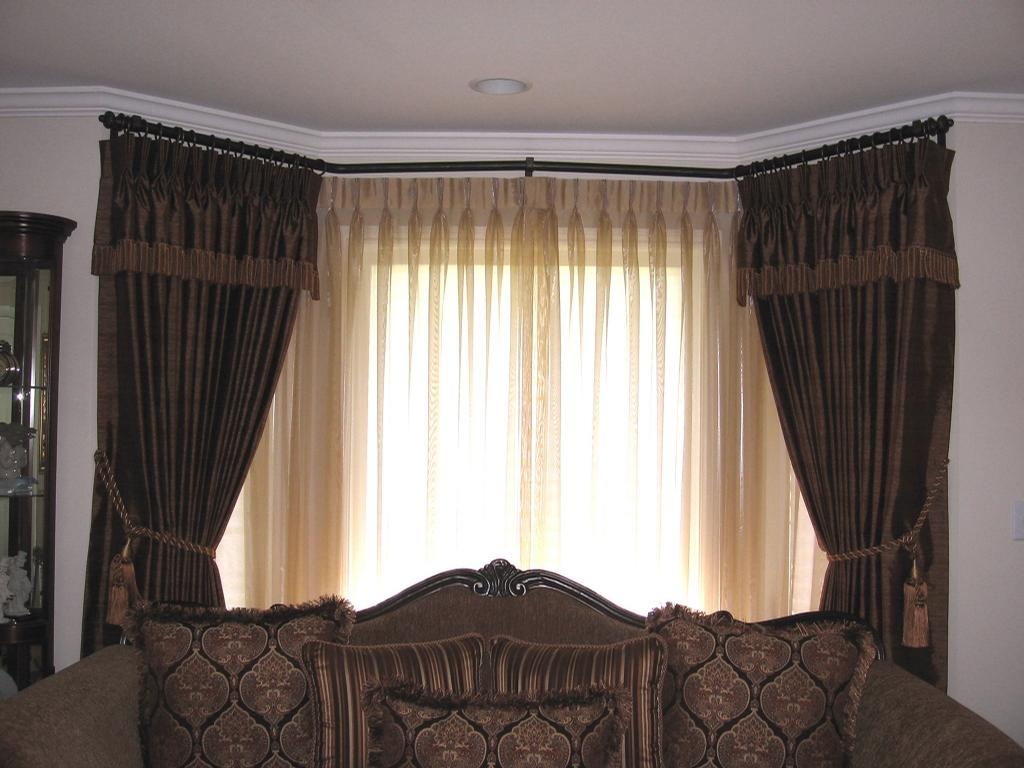Bay Window Drapes And Sheers From Drape Designers In San