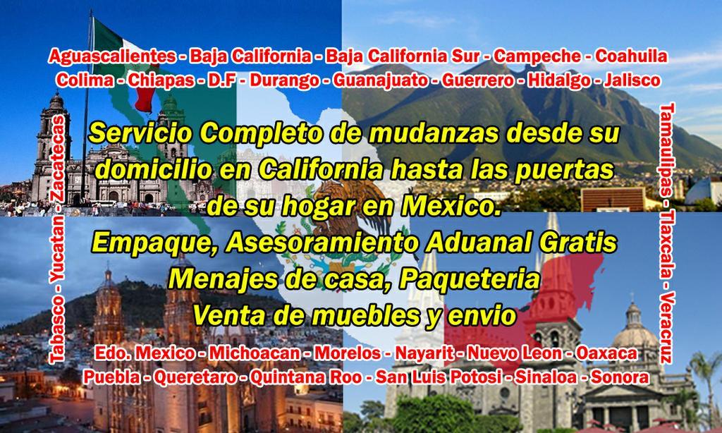 Mudanzas a mexico sol de mexico lynwood ca 90262 310 - Mudanzas en guadalajara ...