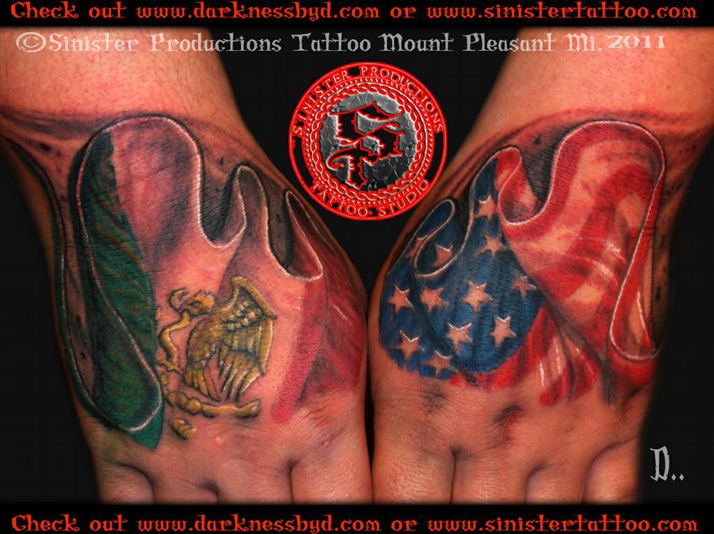 Tattoos Mexican American Flag Mexican Flag Tattoos