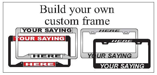Custom License Frames from Cool Gifts USA in Rancho Cucamonga, CA 91729