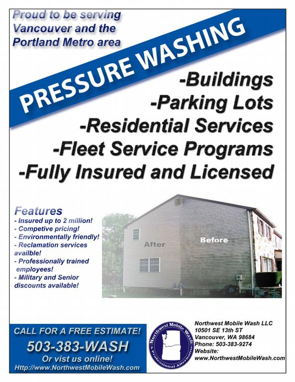 Flyers For Pressure Washing Business Flyer | www.gooflyers.com