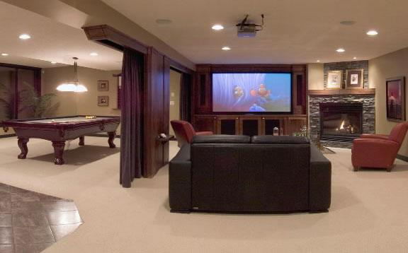 Finished Basement Remodel Ct Mass From Scheer