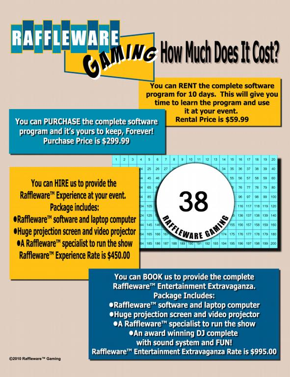 how much does it cost raffleware gaming logo by reverse raffle