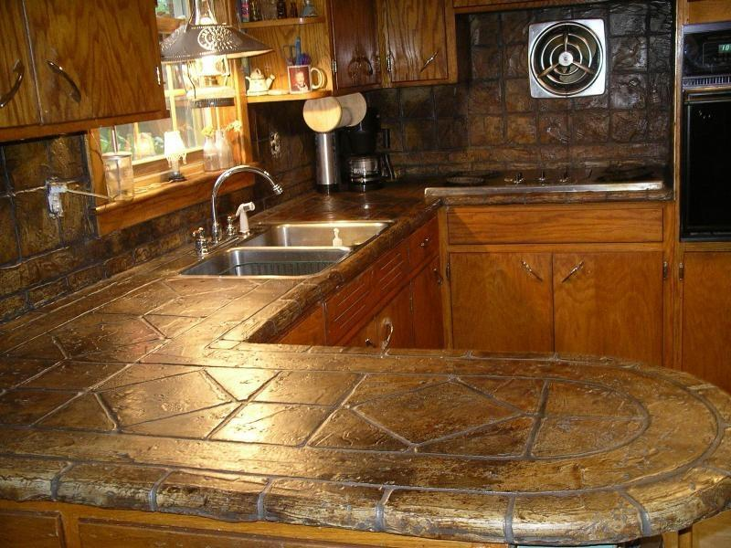 TUMBLED STONE LOOK COUNTERTOP OVERLAY by Turn In2 Stone LLC