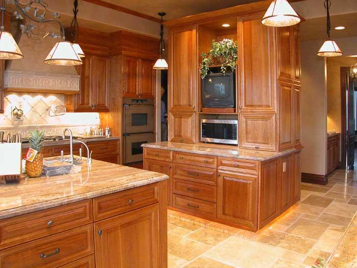 Custom Cherry Kitchen from Unique Design Cabinet Company in Sparks ...