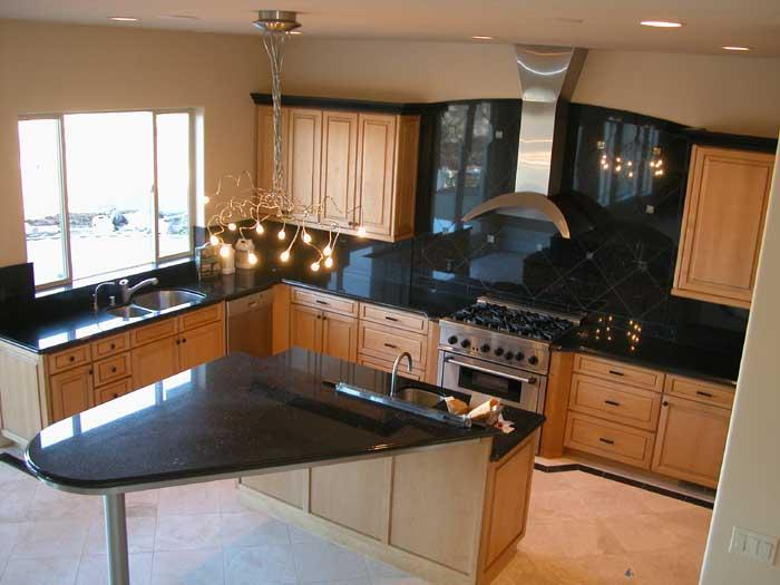 present day kitchens photograph - Contemporary Granite Kitchen