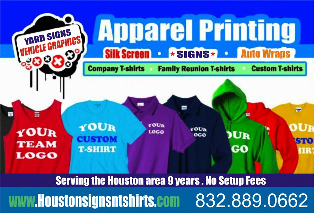 New flyer from custom signs custom t shirt printing for Cheap t shirt printing houston