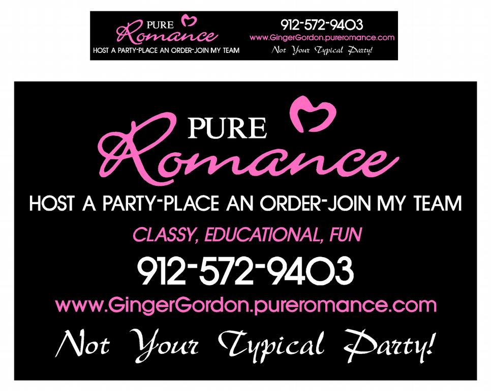 Pictures for pure romance by ginger gordon in hinesville for Pure romance business cards