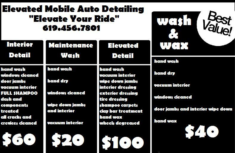 elevated black white flyer from ELEVATED MOBILE AUTO DETAILING ...