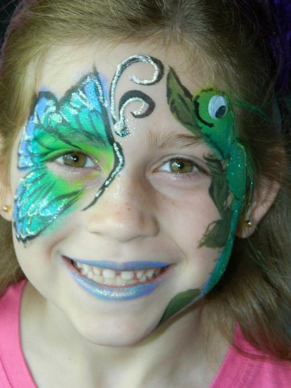 Butterfly face painting mosi earth day from let 39 s plan a for Face painting business