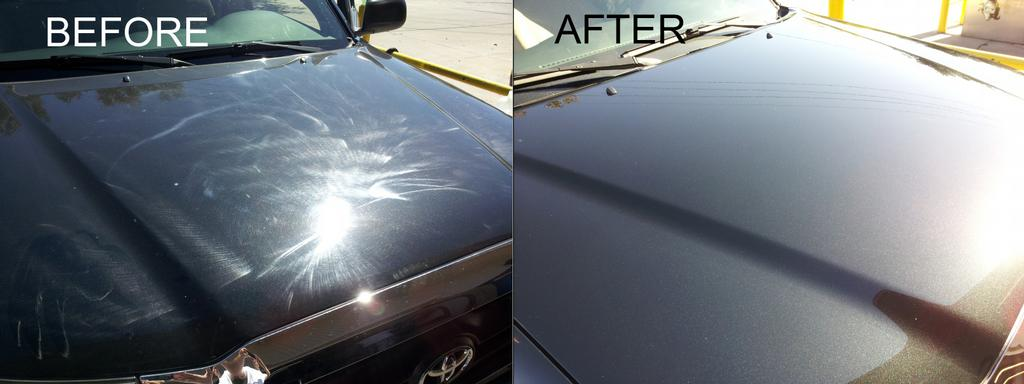 Hood Before And After From Dirts Away Mobile Auto