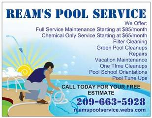 pool flyer from ream s pool service in lodi ca 95240
