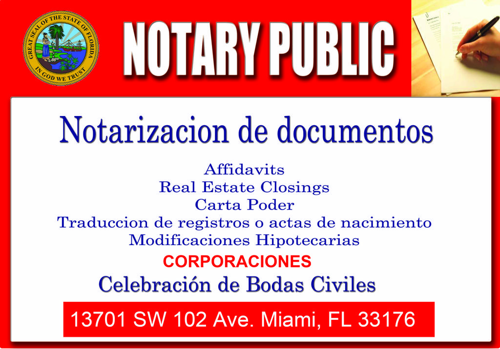 Pictures for Miami Notary Notario 786-344-5324 Corporaciones in ...