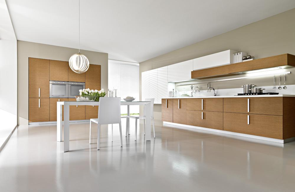Pedini magika teak wood contemporary italian kitchen for Modern teak kitchen cabinets