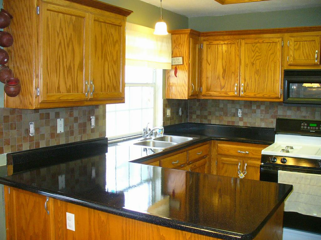 Stones For Kitchen Countertops : Kitchen Countertops Refinished in Flint Stone - AFTER by Renew Kitchen ...