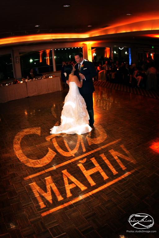 Admiral Kidd Club Skyline Room Gobo Monogram from San Diego Events