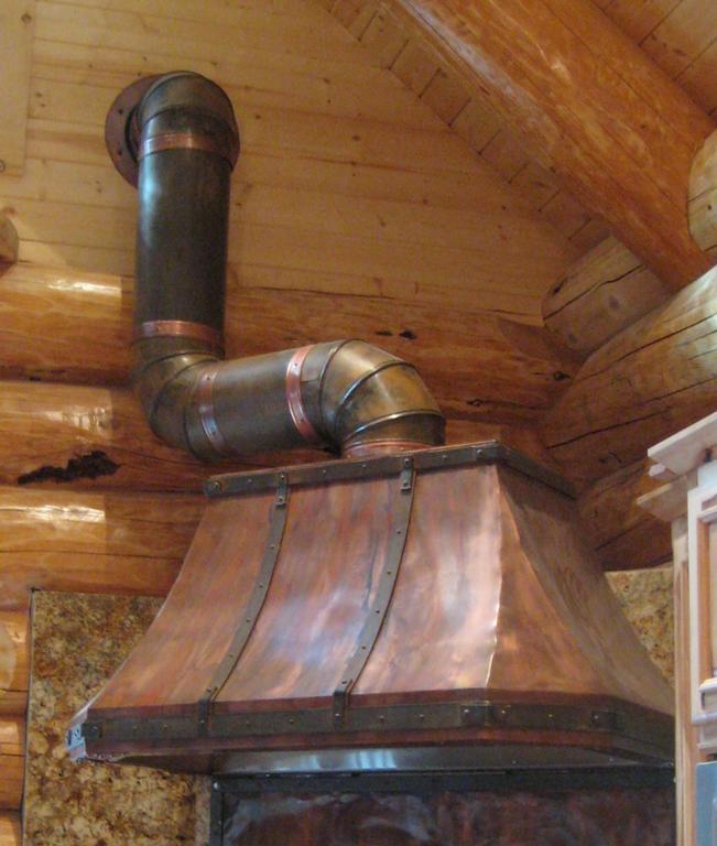 Rustic Copper Kitchen Range Hood
