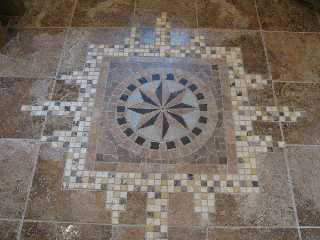 Mosaic Tile Floor From Capitol Peak Construction In Colorado Springs