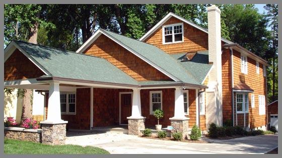 Craftsman style homes remodels renovations from the for Craftsman home builders charlotte nc