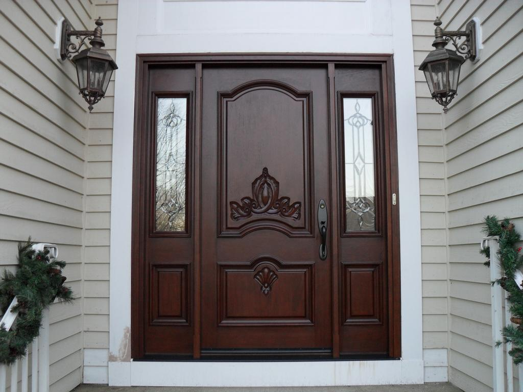 Custom wood door from somerset hills doors architectural for Custom entry doors